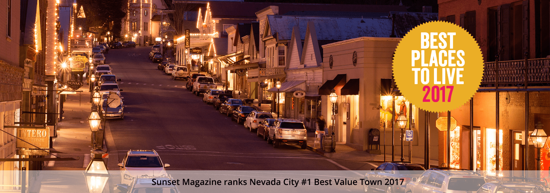 Sunset Magazine ranks Nevada City #1 Best Value Town 2017